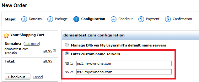 own dns records com domains