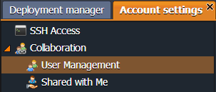 Account Settings - Collaboration - User Management