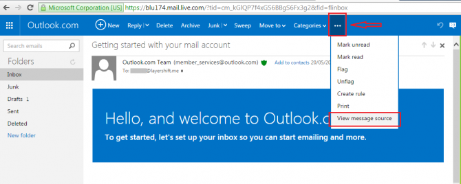 outlook.com source edited