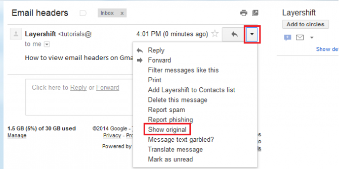 show original gmail