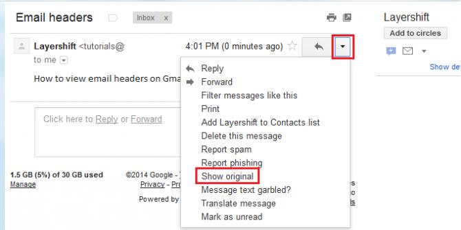 show original gmail