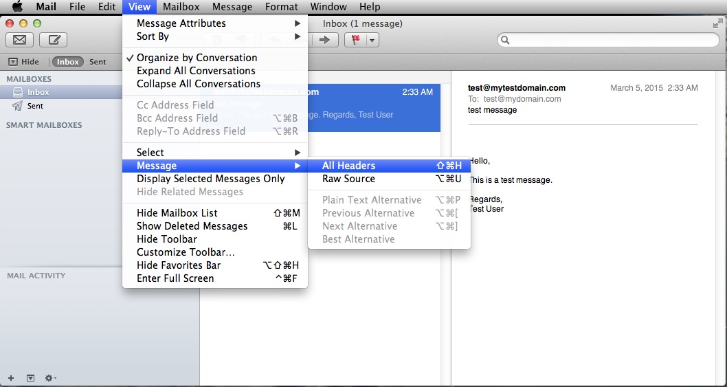 How To Get Header Information On Outlook For Mac