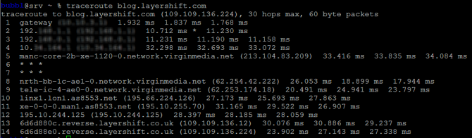 How to use network diagnostics tools Traceroute and MTR