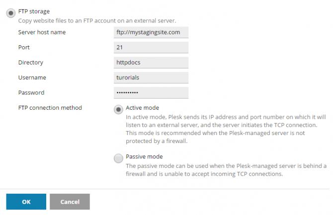 FTP storage