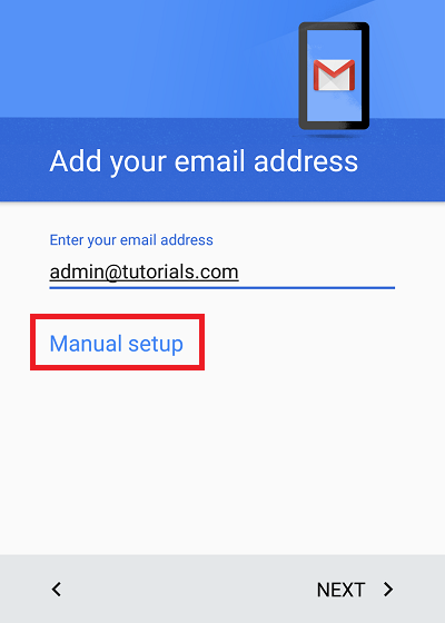 Configure Plesk mail in Android Step 3