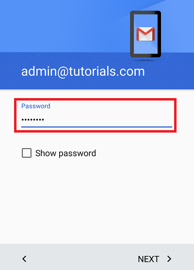 Configure Plesk mail in Android Step 5