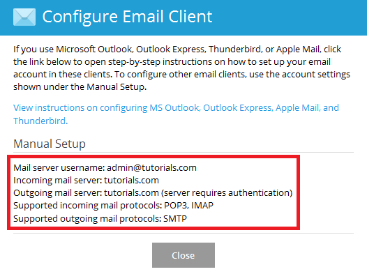 How to configure Plesk mail 1