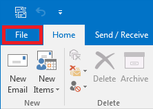 How to configure Plesk mail in Outlook- Step 1