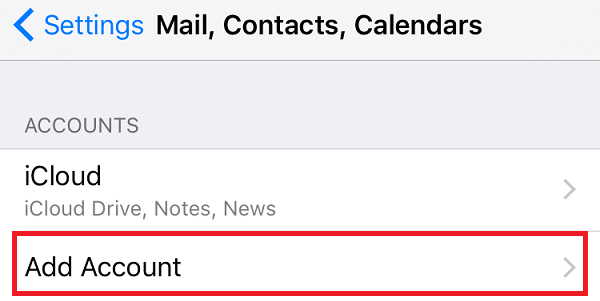 How to configure Plesk mail in iOS - Step 2