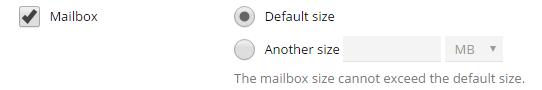 mailbox size